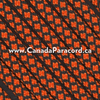 Neon Orange Diamonds - 100 Ft - 550 LB Paracord