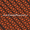 Neon Orange Diamonds - 50 Ft - 550 LB Paracord