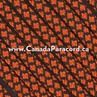 Neon Orange Diamonds - 50 Ft - 550 LB Paracord