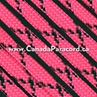 Neon Pink with Black X - 1,000 Ft - 550 LB Paracord