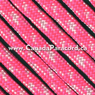 Neon Pink/White Camo - 100 Foot - 550 LB Paracord