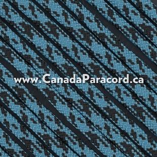 Neon Turquoise / Black Camo - 100 Ft - 550 LB Cord