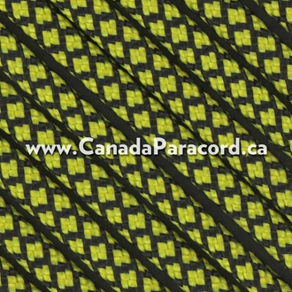 Neon Yellow Diamonds - 100 Ft - 550 LB Paracord
