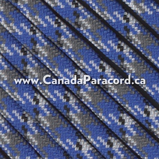 New Blue Camo - 100 Ft - 550 LB Paracord