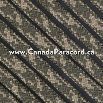 Olive Drab/Tan Camo - 100 Feet - 550 LB Paracord