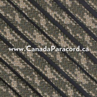 Olive Drab/Tan Camo - 50 Feet - 550 LB Paracord