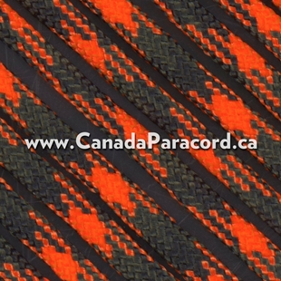 Orange Blaze Camo - 50 Feet - 550 LB Paracord