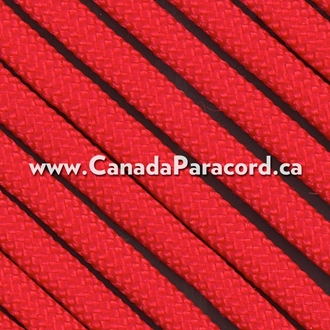 Red - 100 Feet - 550 LB Paracord