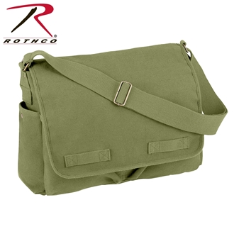 Olive Drab Vintage Unwashed Canvas Messenger Bag by Rothco®