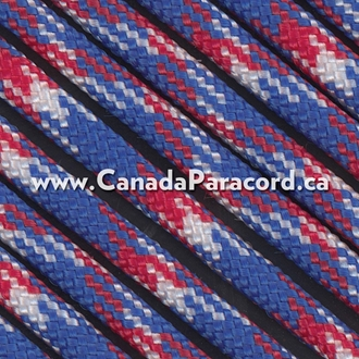 Red, White & Blue Camo - 50 Foot - 550 LB Paracord