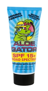 SPF 15+ Broad Spectrum Sunblock | 3oz (85g) | by Aloe Gator