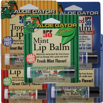 SPF 30 Moisturizing Lip Balm | Various Flavours | by Aloe Gator