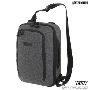 Entity™ Tech Sling Bag (Large) 10L by Maxpedition® Charcoal