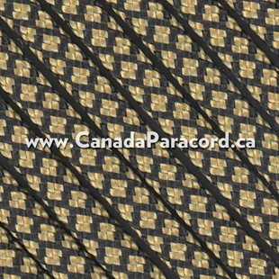 Gold Diamonds - 100 Foot - 550 Type III Nylon Paracord
