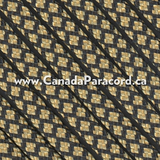 Gold Diamonds - 50 Foot - 550 Type III Nylon Paracord
