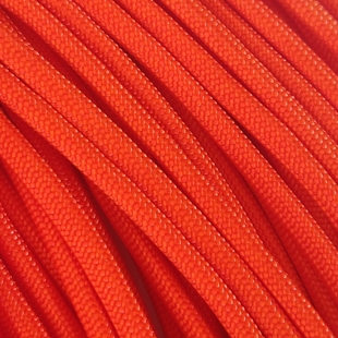 Safety Orange - 25 Foot - 550 LB Type III Paracord