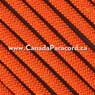 International Orange - 25 Feet - 550 LB Paracord