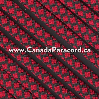 Imperial Red Diamonds - 25 Feet - 550 LB Paracord