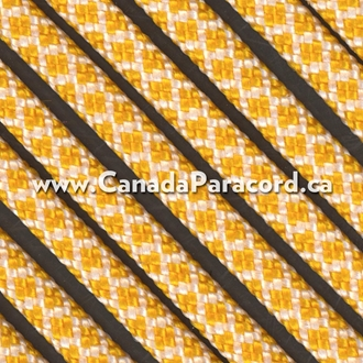 Honeycomb Goldenrod/White Diamonds - 25 Feet - 550 LB Paracord
