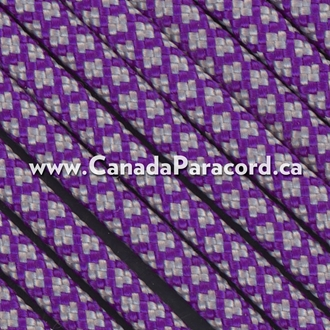 Neon Purple Silver Diamonds - 50 Ft - 550 LB Paracord