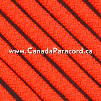 Neon Orange - 25 Feet - 550 LB Paracord