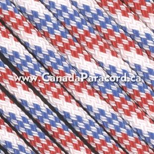 Red/White/Blue - 25 Feet - 550 LB Paracord