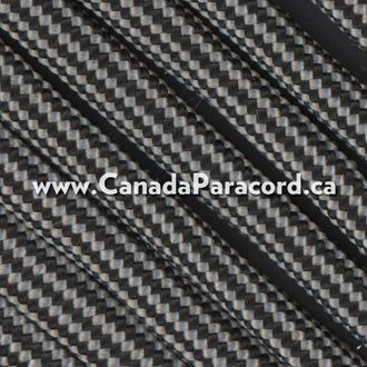 Silver and Black Stripes - 50 Ft - 550 LB Paracord