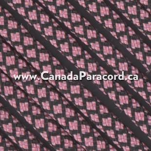 Rose Pink Diamonds - 50 Ft - 550 LB Nylon Paracord