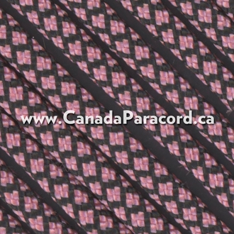Rose Pink Diamonds - 25 Ft - 550 LB Paracord