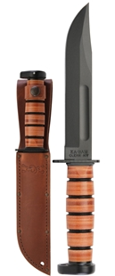 Dog's Head Utility Knife by KA-BAR® With Leather Sheath