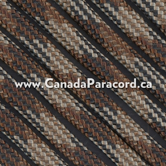 Brown Camo - 25 Feet - 550 LB Paracord