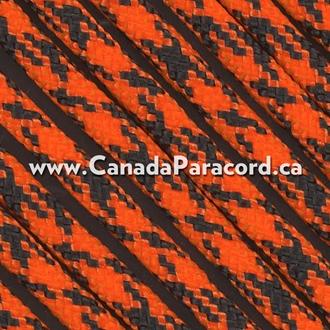 Neon Orange Camo - 25 Feet - 550 LB Paracord
