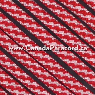 Candy Cane- 25 Feet - 550 LB Paracord