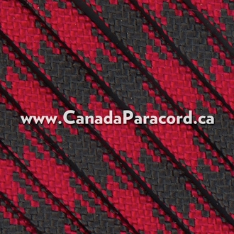 Imperial Red and Black 50/50 - 1,000 Ft - 550 LB Paracord
