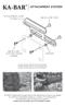 Attachment System by KA-BAR®